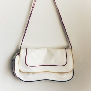 Kooba Vintage White Leather Crossbody Bag